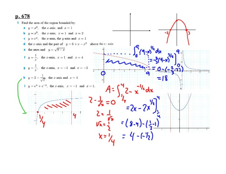 p. 678         the x - axis