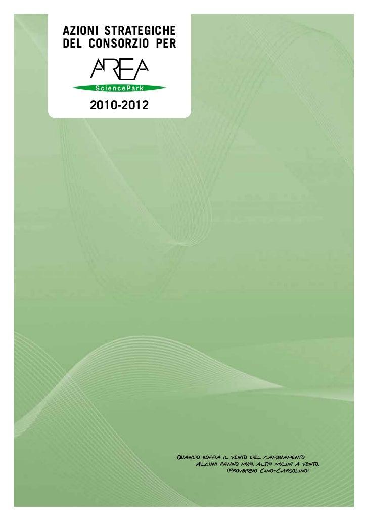 Area Science Park - Azioni Strategiche 2010-2012