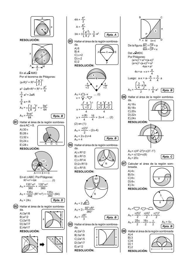 En eIAAMo  Por el teorema de Pitágoras:   (a-R)?  = R2 +[%]2  a2-2aR+R2=R2+aT2 %a2=2aR %a=  R A542   8 64  9na2  As- 64 Rp...