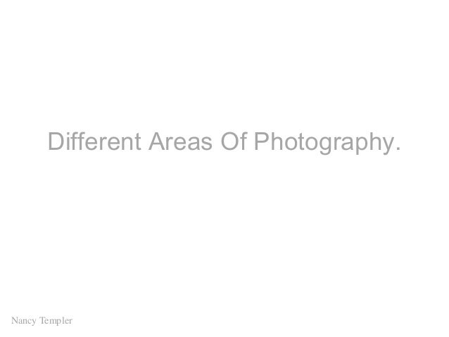 Different Areas Of Photography. Nancy Templer