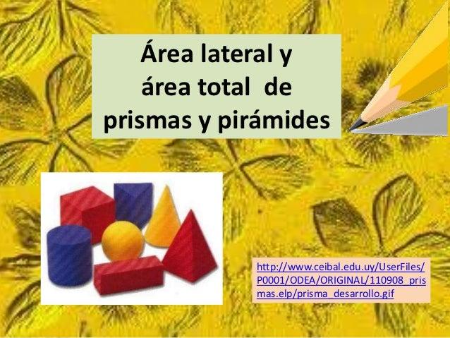 Areas prismas pirámides