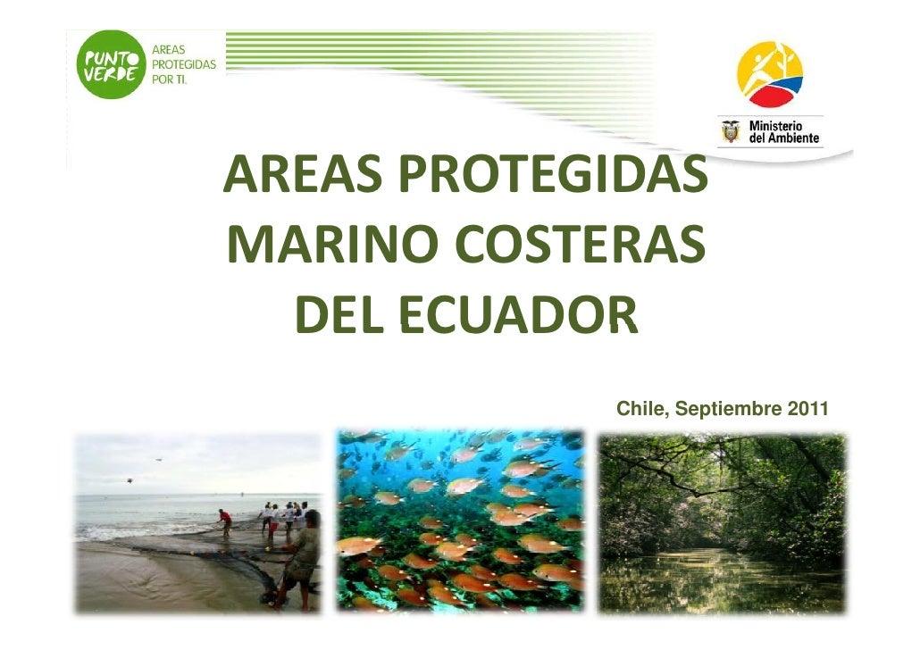 Areas protegidasmarinocosteras ecuador