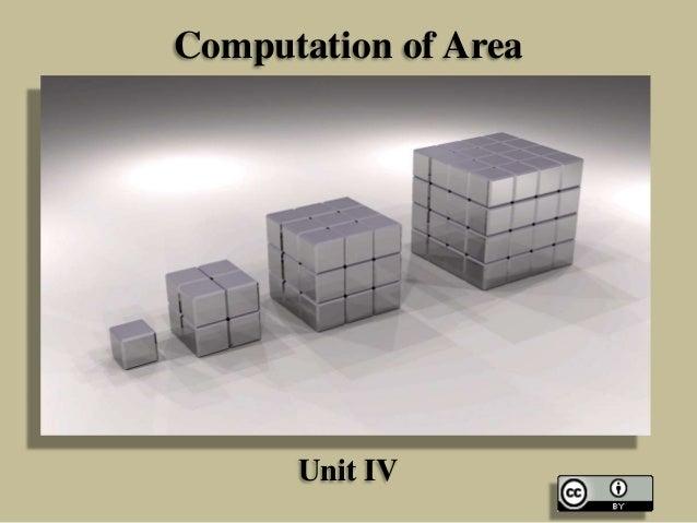 Computation of Area  Unit IV