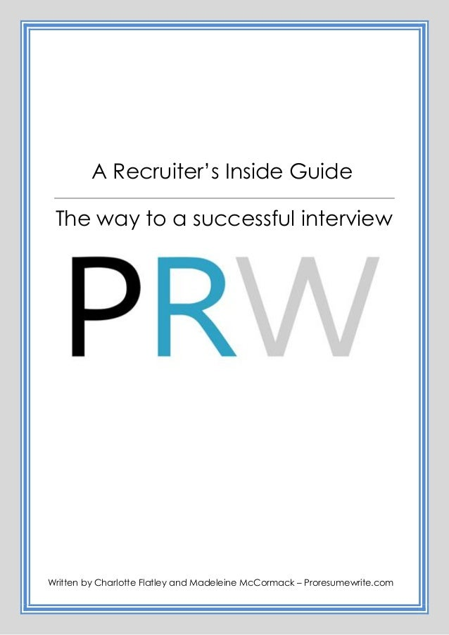 The Way To A Successful Interview Pro Resume Write