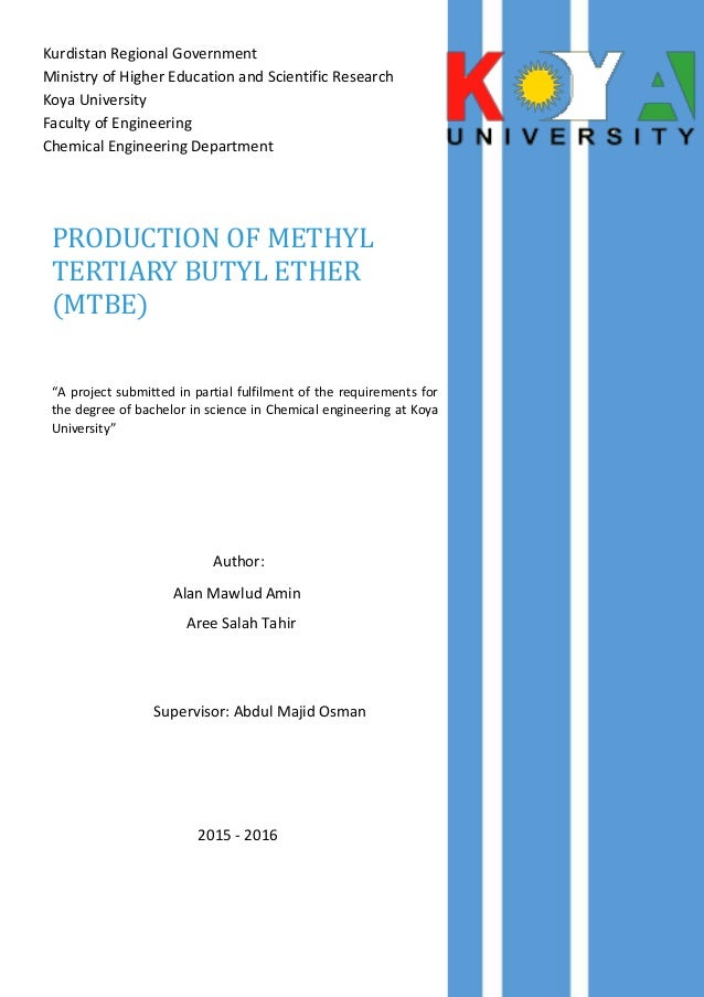 mtbe methyl tertiary butyl ether issues essay
