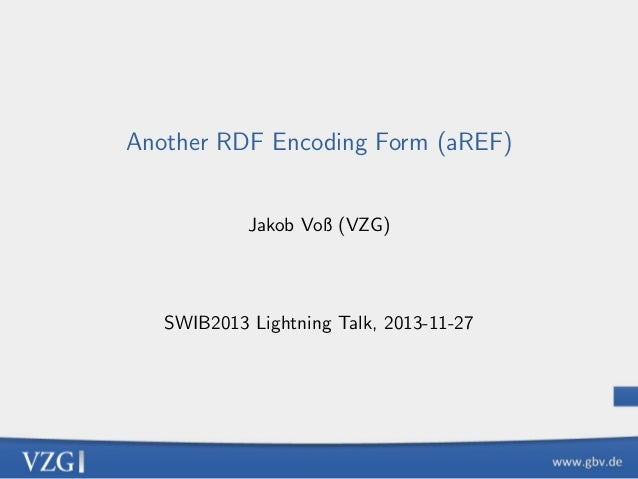 Another RDF Encoding Form