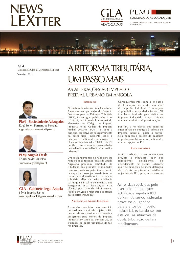GLAExperiência Global, Competência LocalSetembro 2011                                          A REFORMA TRIBUTÁRIA,      ...