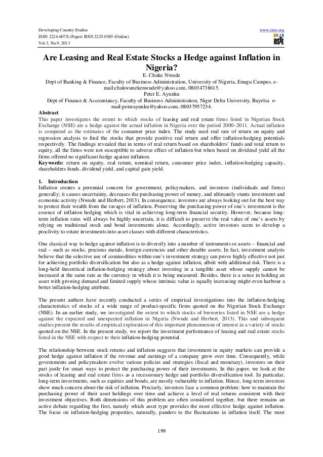 Developing Country Studies ISSN 2224-607X (Paper) ISSN 2225-0565 (Online) Vol.3, No.9, 2013  www.iiste.org  Are Leasing an...
