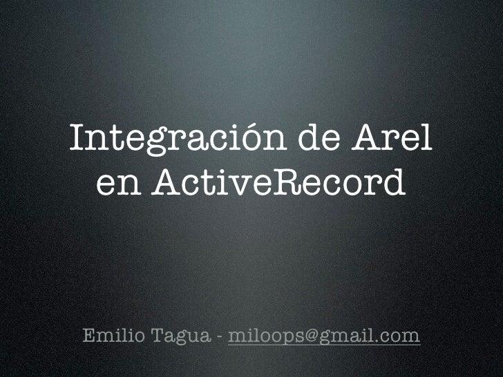 Integración de Arel en ActiveRecord