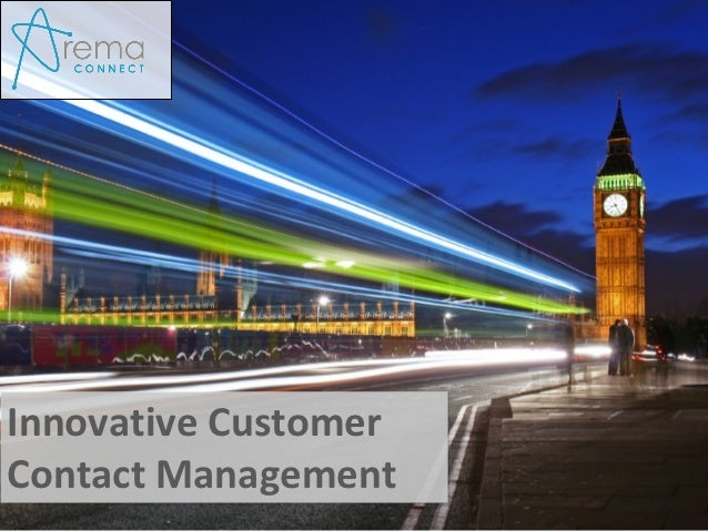 Innovative CustomerContact Management