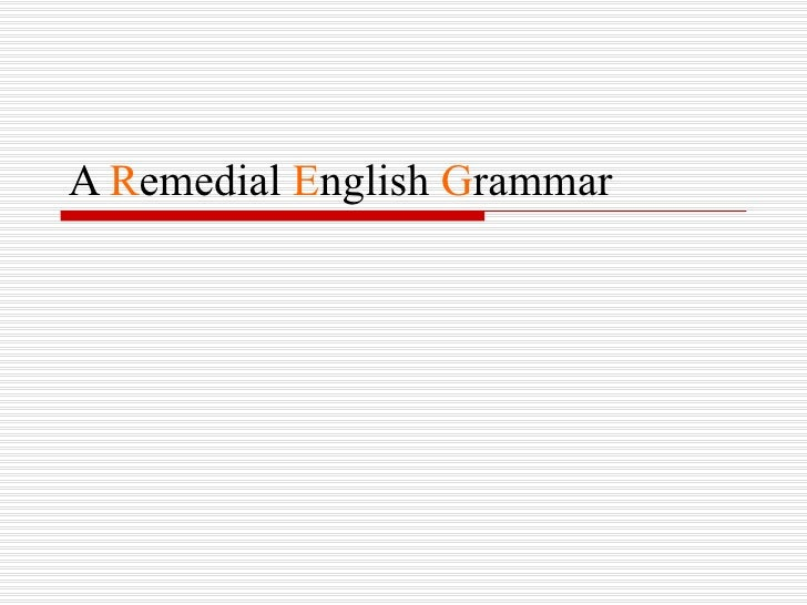 A remedial english grammar chp 1 articles