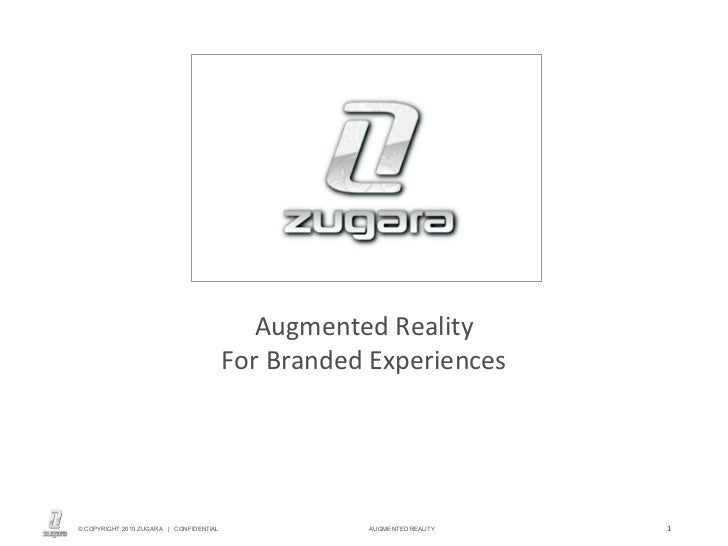 Augmented Reality For Branded Experiences