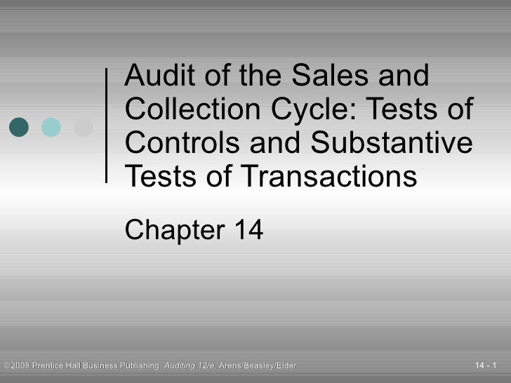 Audit of the Sales and Collection Cycle: Tests of Controls and Substantive Tests of Transactions Chapter 14