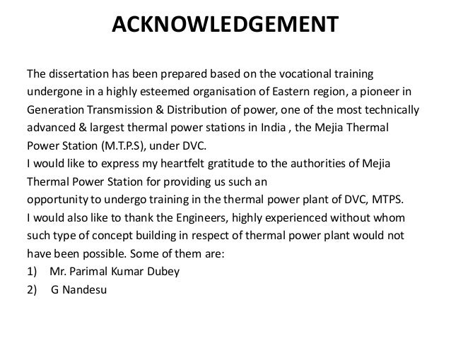 thesis acknowledgement section