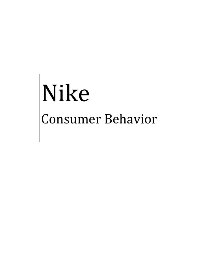 A report on consumer behaviour in nike