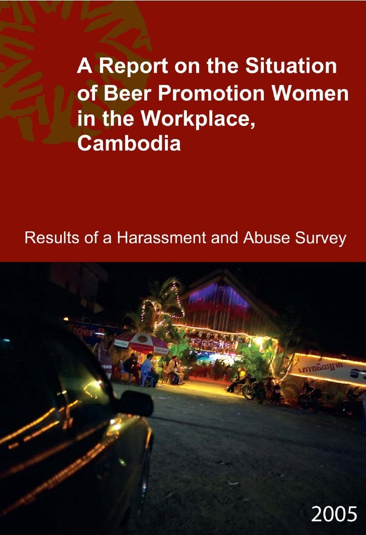 A report on the situation of beer promotion women in the workplace cambodia  english