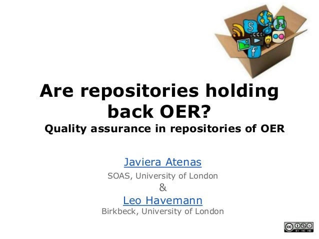Are repositories holding back OER