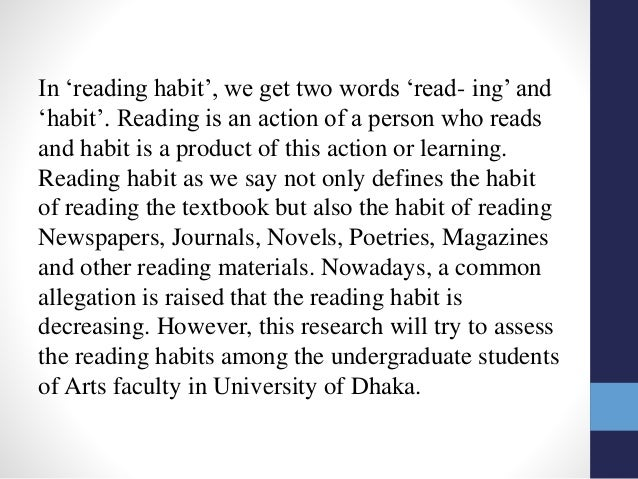 the decline of reading habit among students What are the causes and effect of poor reading habits among high school study habits among high school students reading habits among students.