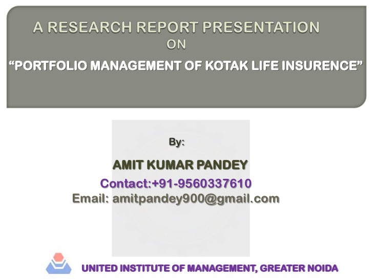 A research report presentation1