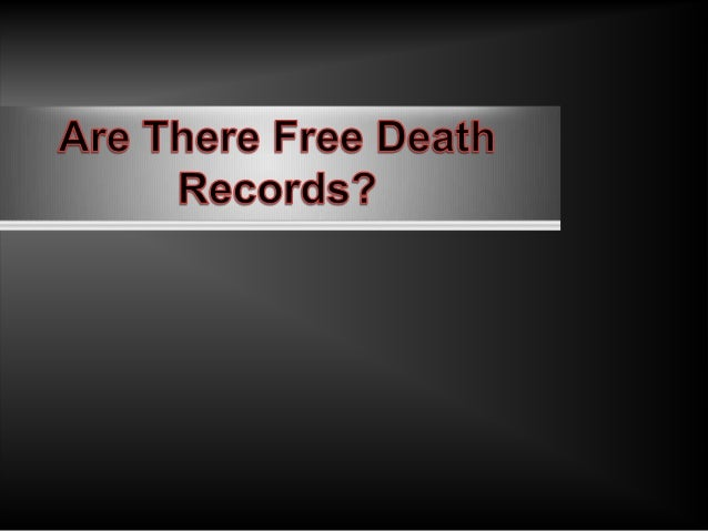 Are there free death records