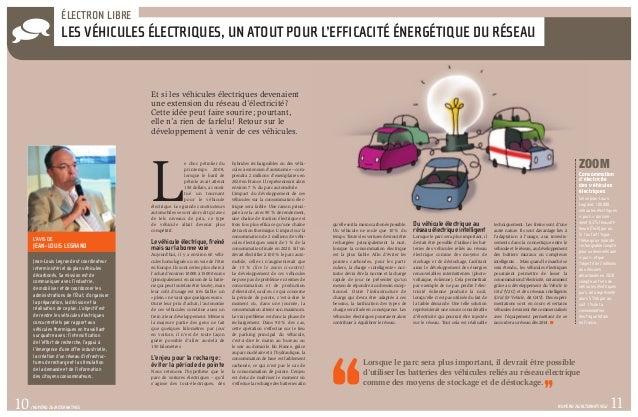 ÉLECTRON LIBRE                   Les véhicules électriques, un atout pour l'efficacité énergétique du réseau            ...