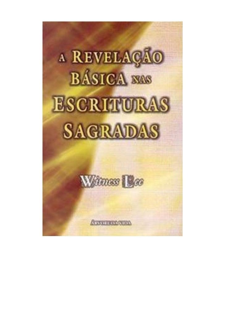 A revelação básica nas escrituras sagradas