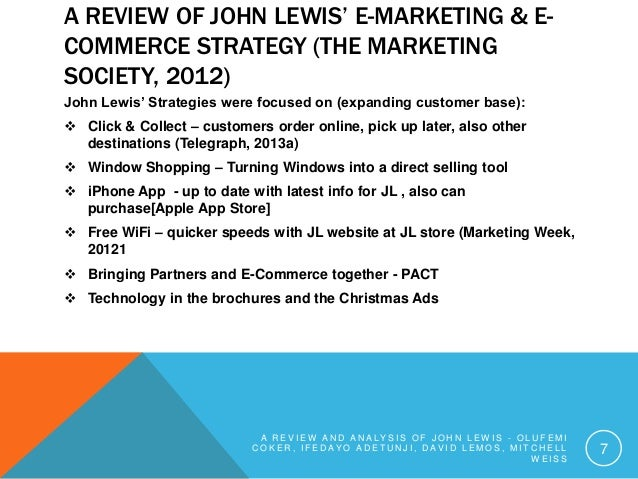 john lewis pest analysis