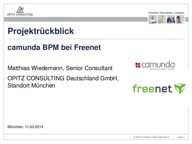 A review of camunda bpm within freenet