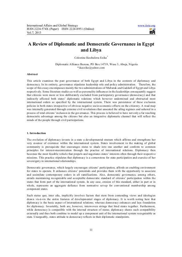 International Affairs and Global Strategy                                                       www.iiste.orgISSN 2224-574...