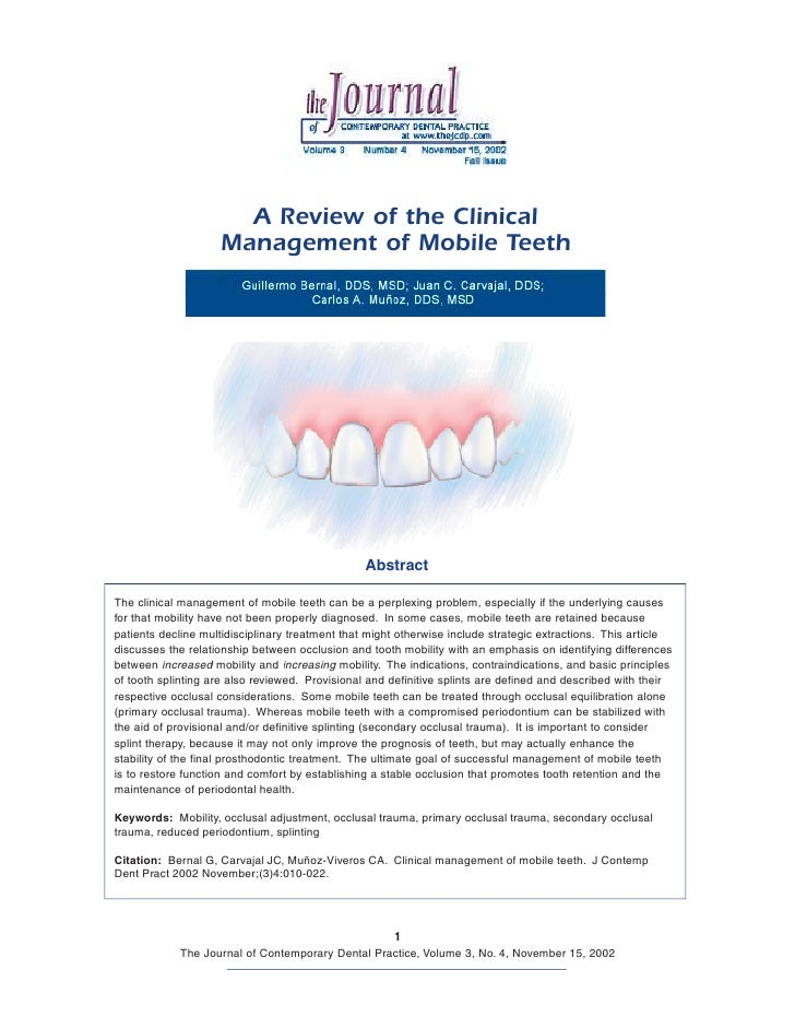 A+review+of+the+clinical+management+of+mobile+teeth