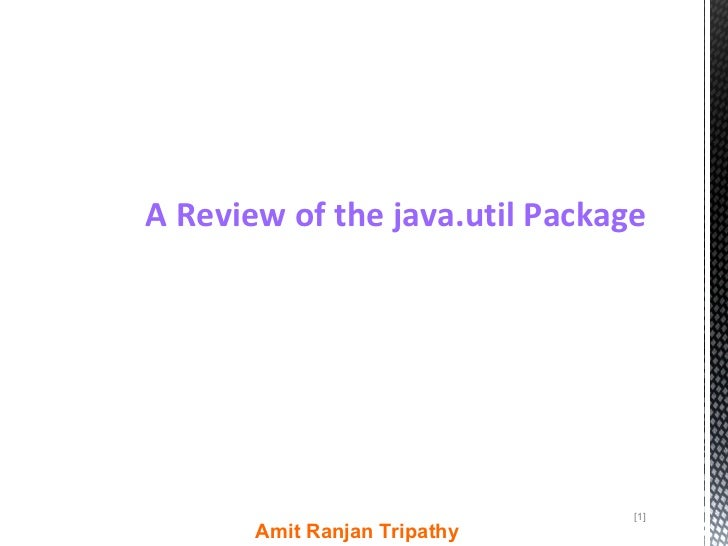 A review of the java.util package