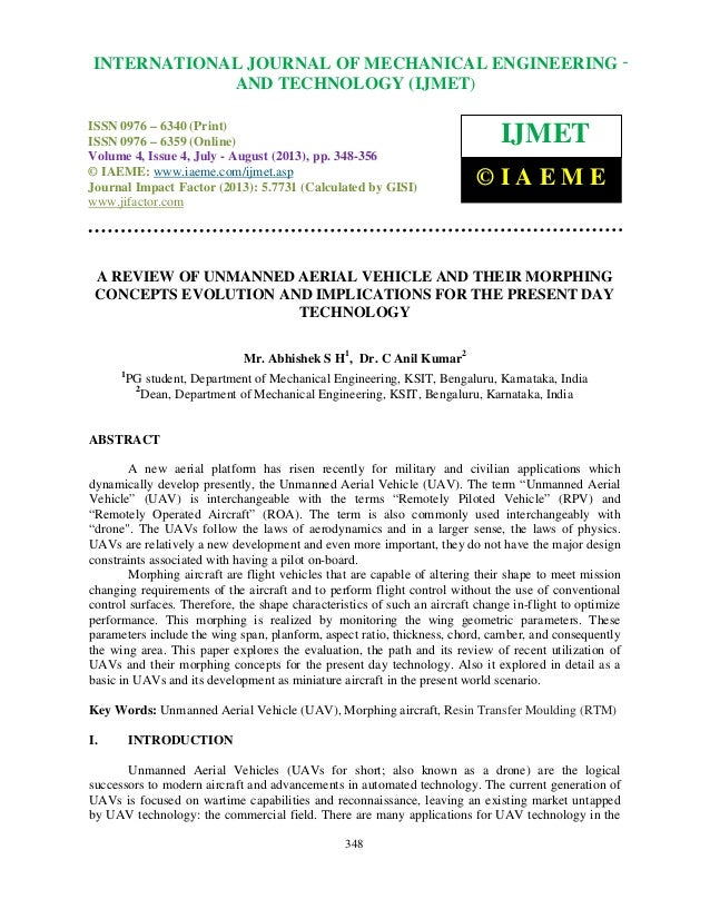 A review of unmanned aerial vehicle and their morphing concepts evolution and
