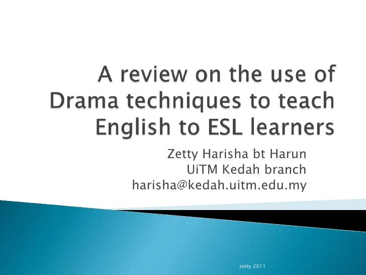A review on the use of drama techniques