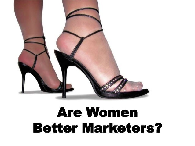 Are women better marketers