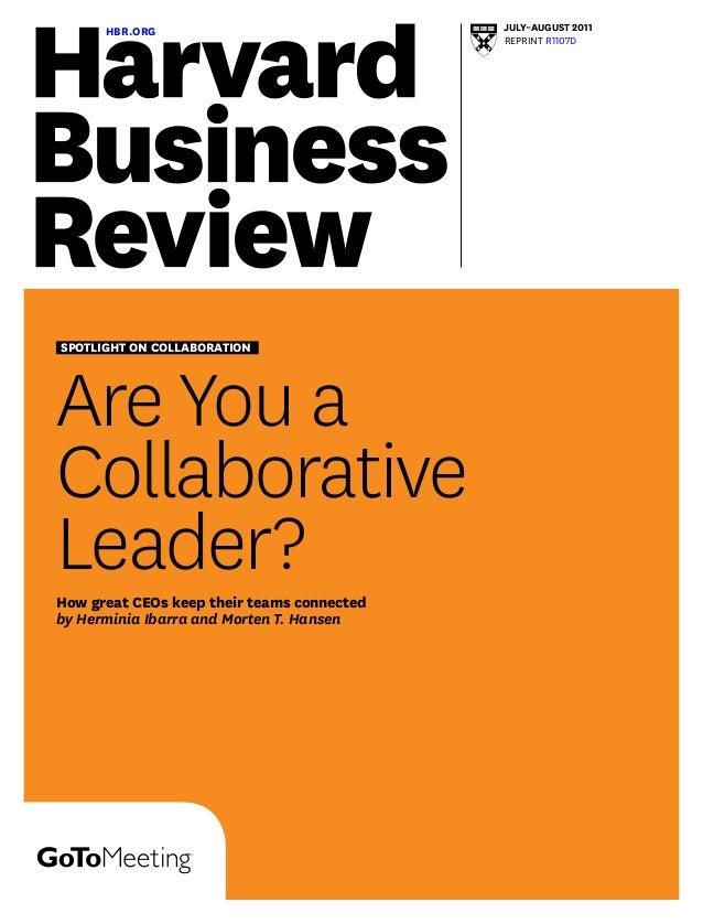 Are youa collaborativeleader