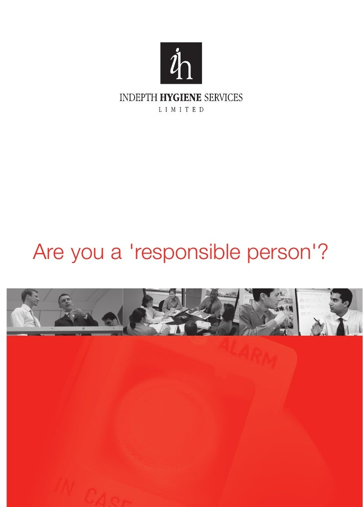 Indepth Hygiene brochure: Are you a responsible person