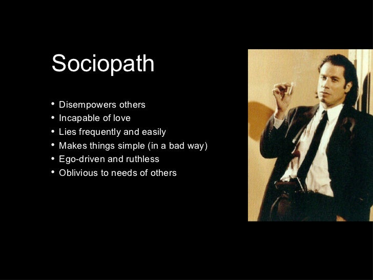 what makes a sociopath final A relationship with a sociopath can drain you emotionally, and often, financially   this creates a dependency on the abusive person, leaving the victim feeling  like  it is best to seek out professional help if you decide to end your relationship.