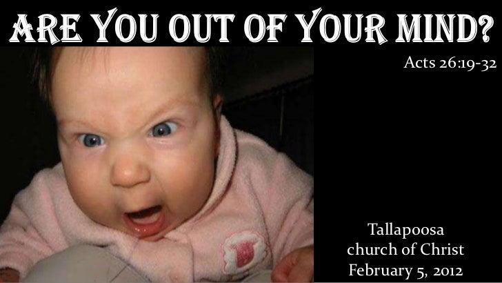 Are you crazy sermon