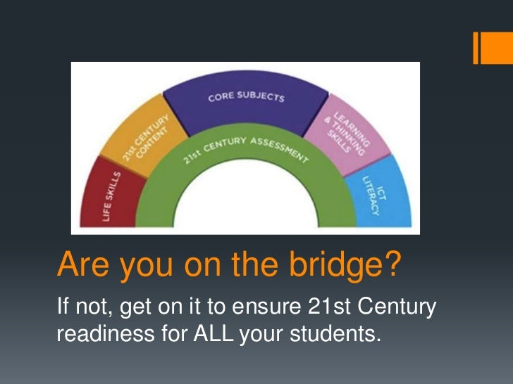 Are you on the bridge?If not, get on it to ensure 21st Centuryreadiness for ALL your students.