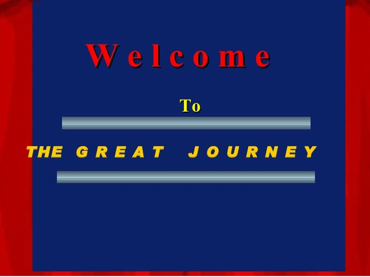 Are You Prepared For The Great Journey