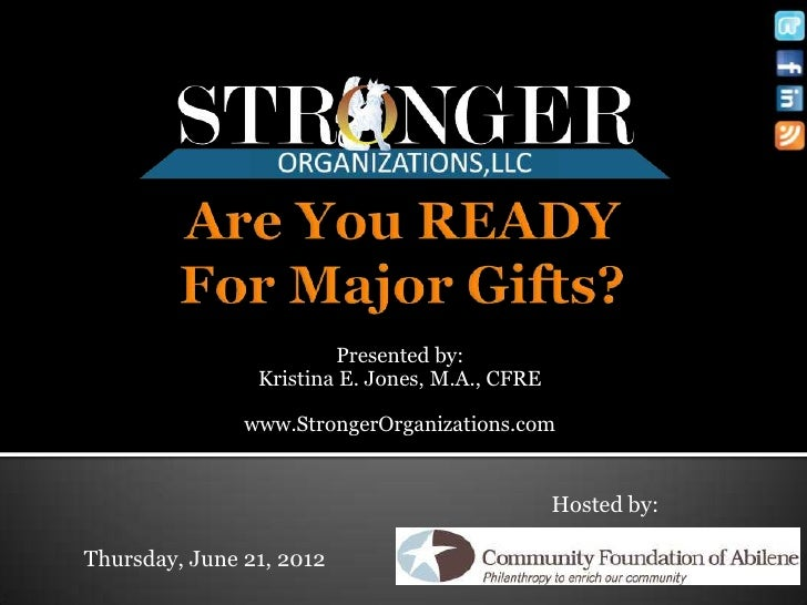 Are you Ready for Major Gifts?