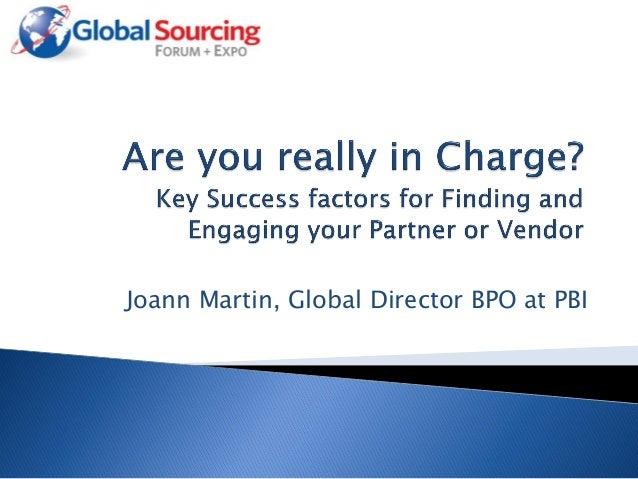 Joann Martin, Global Director BPO at PBI