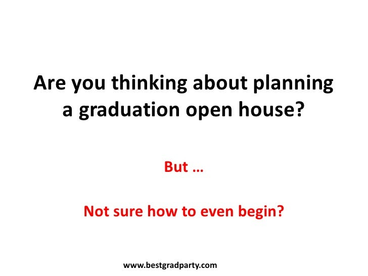Graduation Open House Planning Guide