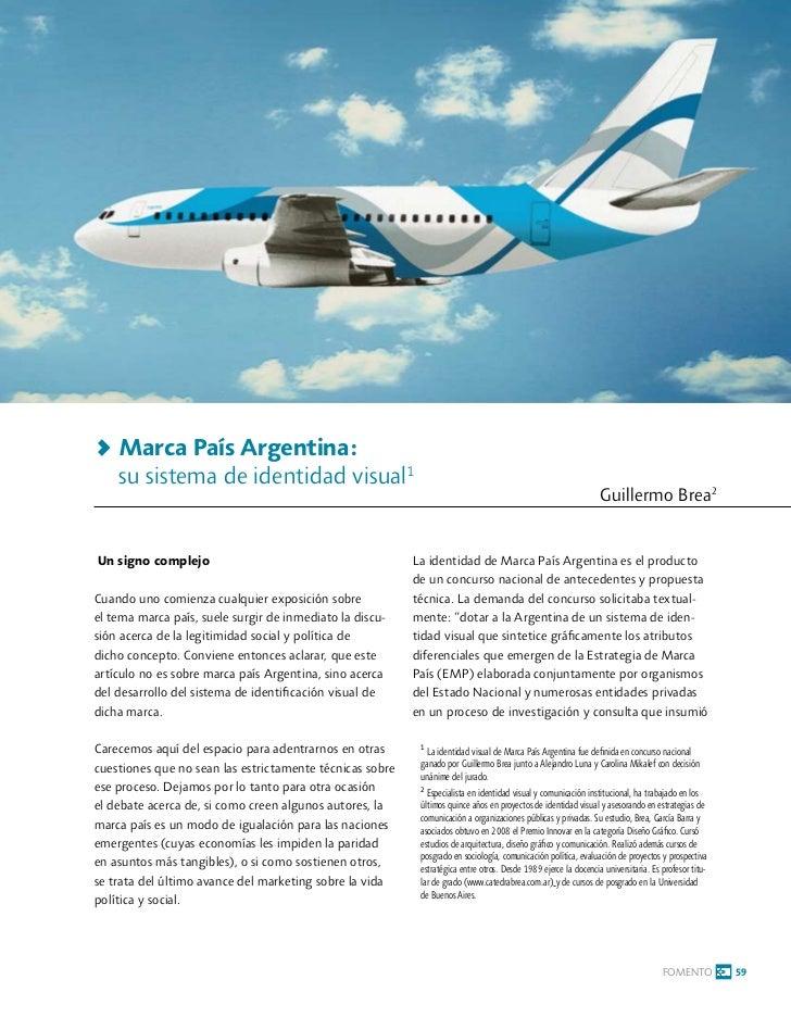 > Marca País Argentina:    su sistema de identidad visual1                                                                ...