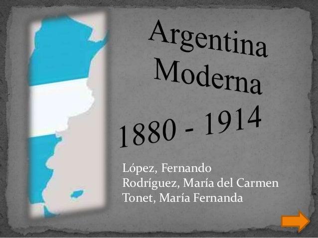 López, Fernando  Rodríguez, María del Carmen  Tonet, María Fernanda