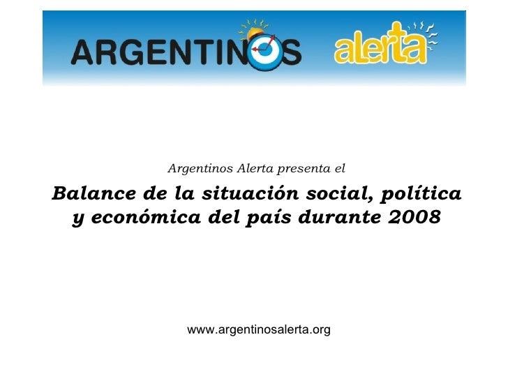 SITUACION ARGENTINA 2008