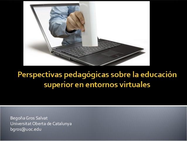 Perspectivas pedagógicas sobre elearning