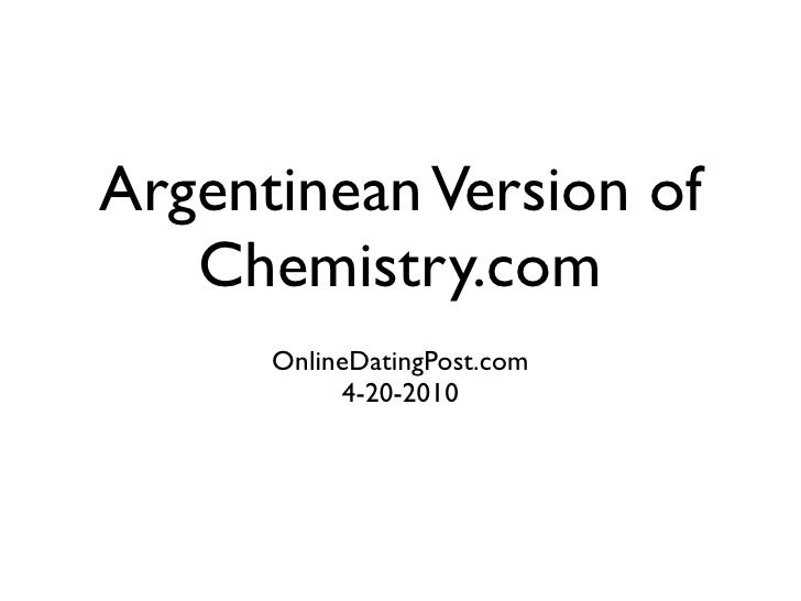 Argentinean version of chemistry