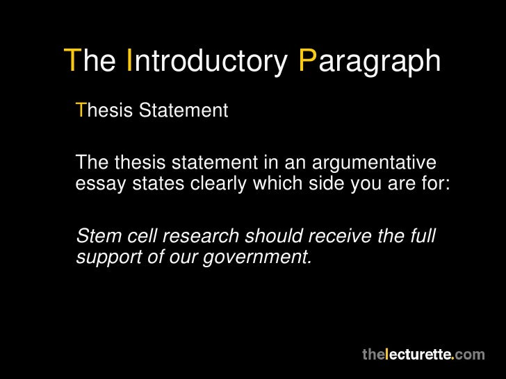 argumentative research paper on stem-cell research