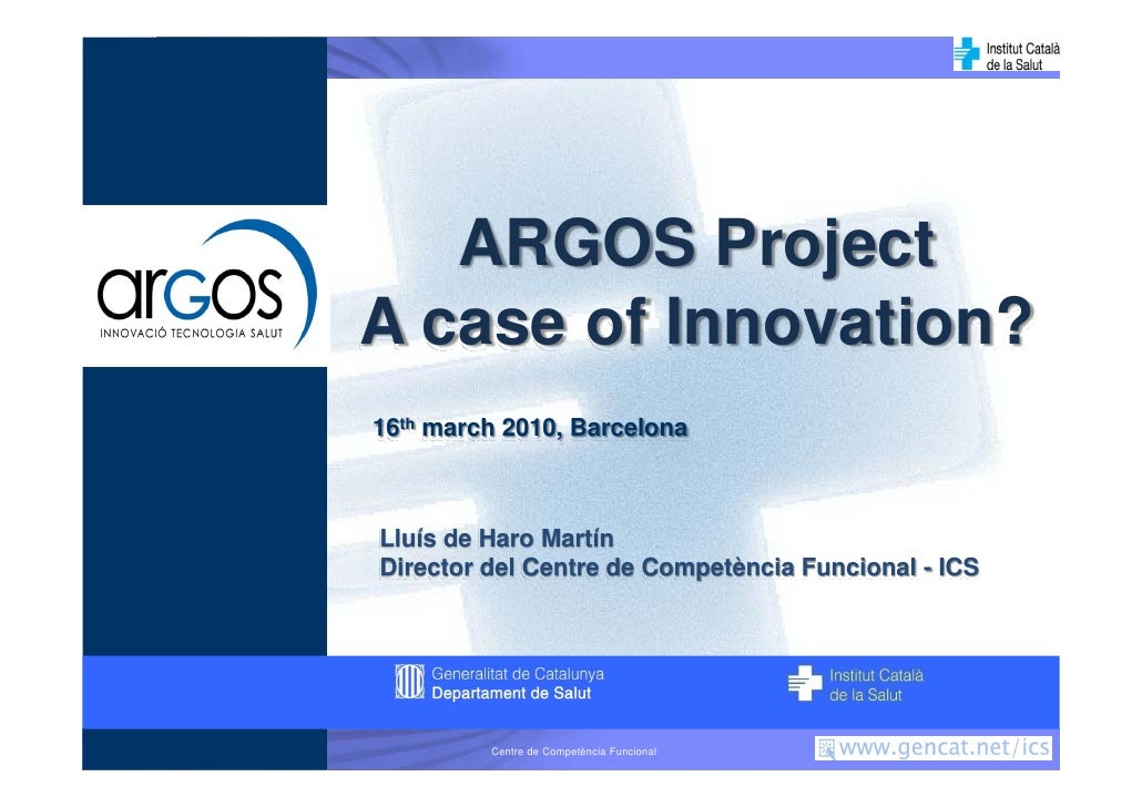 Argos Project in eHealth 2010